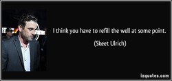 I think you have to refill the well at some point. 