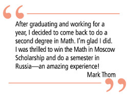 After graduating and working for a 