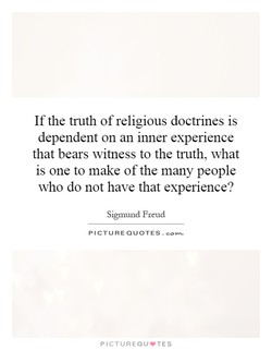 Ifthe truth of religious doctrines is 