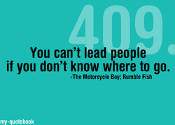 You can't lead people 