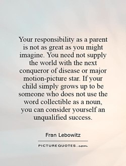 Your responsibility as a parent 
