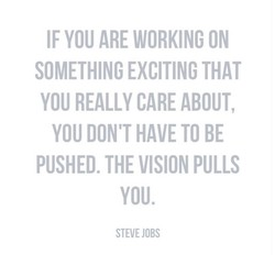 IF YOU ARE WORKING ON 