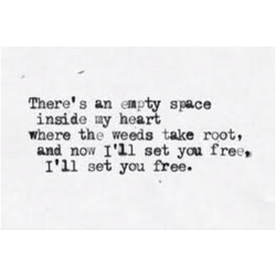 There's an empty 