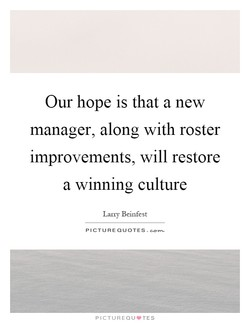 Our hope is that a new 