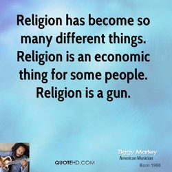 Religion has become so 