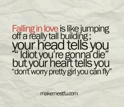 Falling in love is likejumping 