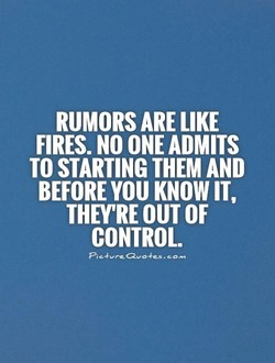 RUMORS ARE LIKE 