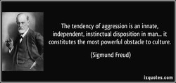 The tendency of aggression is an innate, 