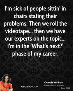I'm sick of people sittinl in 