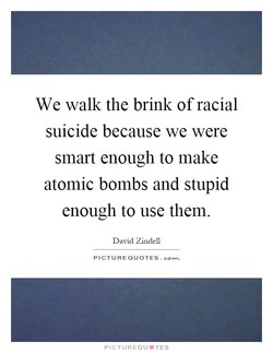 We walk the brink of racial 