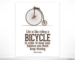 Life is like riding a 