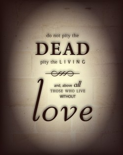 not pity the 