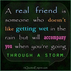 A real friend is 
