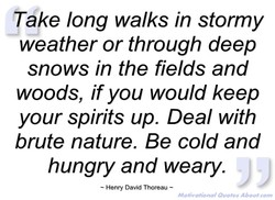ake long walks in stormy 