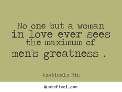 No one but a woman 