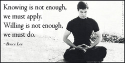 Knowing is not enough, 