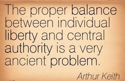 The proper balance 