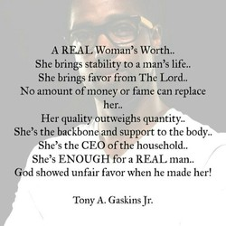 A REAL Woman's Worth.. 