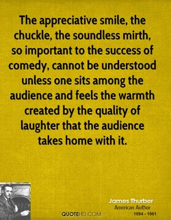 The appreciative smile, the 