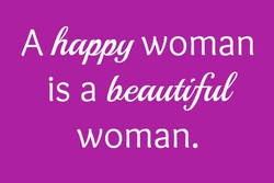 A happy woman 