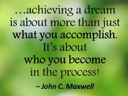 ... achieving a dream 