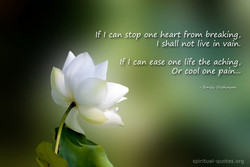 If t can stop one heart from breaking, 
