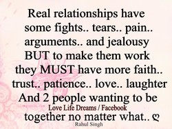 Real relationships have 