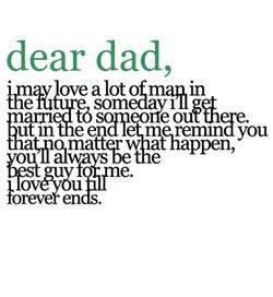 dear dad, 