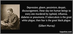 Depression, gloom, pessimism, despair, 