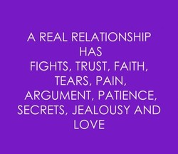 A REAL RELATIONSHIP 