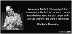 Women are terrified of being raped, but 