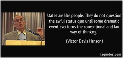 States are like people. They do not question 