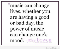 music can change 