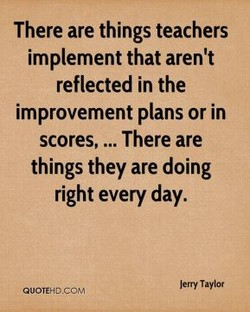 There are things teachers 