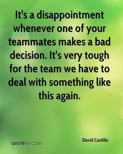 It's a disappointment 