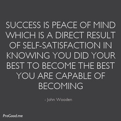 SUCCESS IS PEACE OF MIND 