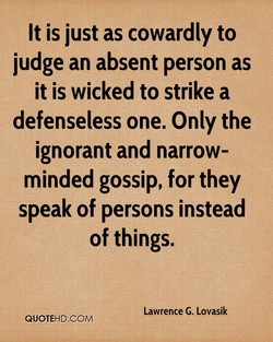 It is just as cowardly to 