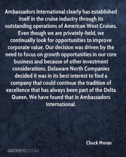 Ambassadors International clearly has established 