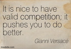 It is nice to have 