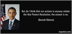 But do I think that our actions in anyway violate 