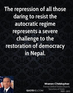 The repression of all those 