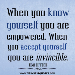 When you know 