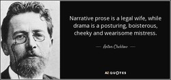 Narrative prose is a legal wife, while 
