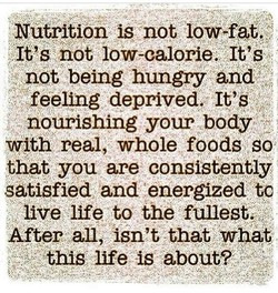 Nutrition is not low-fat, 