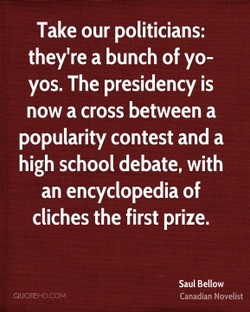 Take our politicians: 