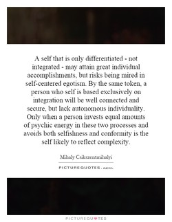 A self that is only differentiated - not 