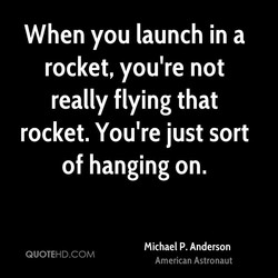 When you launch in a 