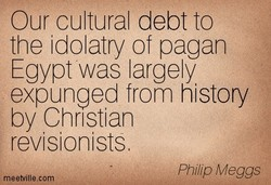 Our cultural debt to 