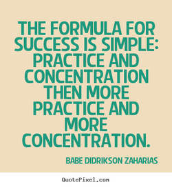 THE FORMULA FOR 