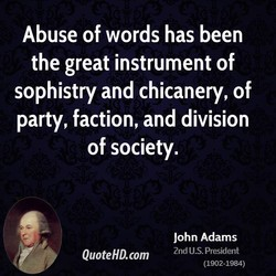 Abuse of words has been 